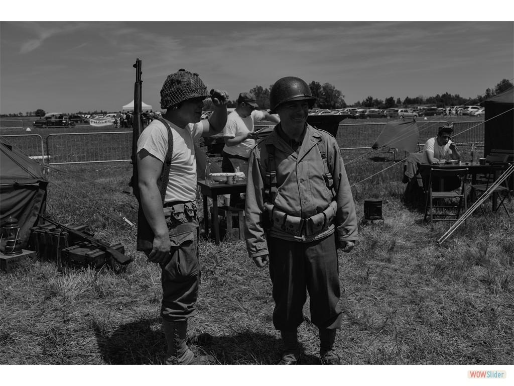 soldats armée américaine (association La H.O.W.31, reconstitution)